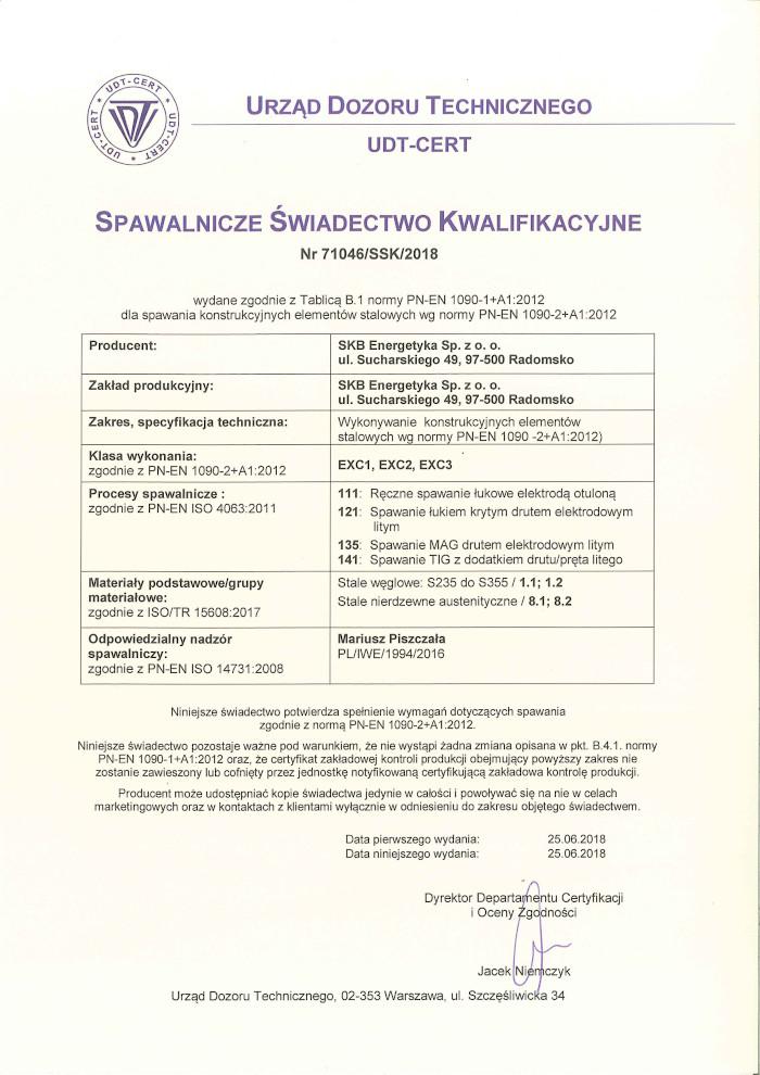 welding certificate qualification